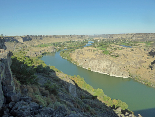 Snake River from Perrine Bridge overlook