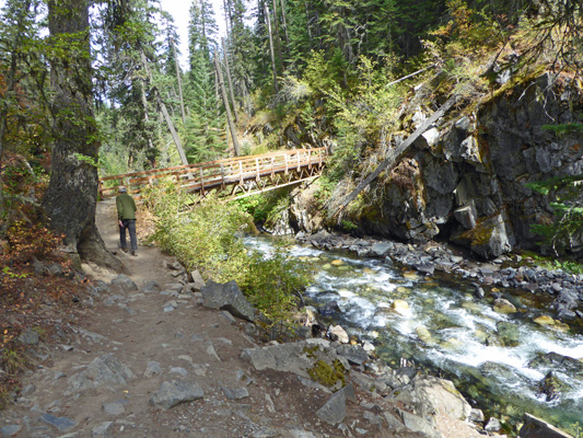 West Fork of the Wallowa bridge