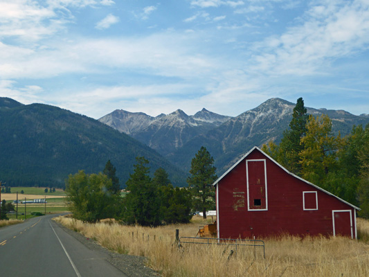 Red Barn Wallowa Mts