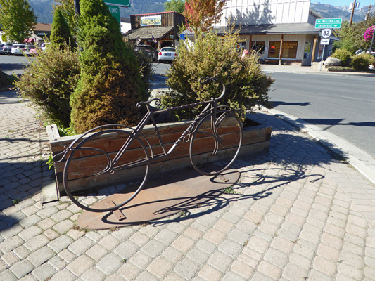Bicycle sculpture Joseph OR