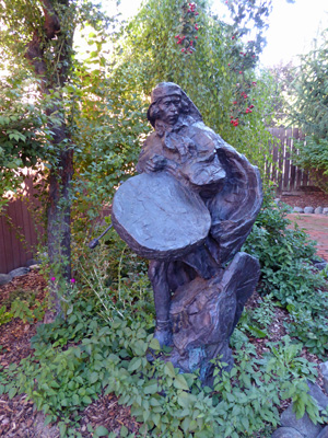 Sculpture of drummer Joseph OR