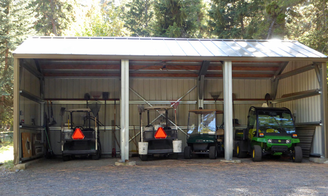 Golf Cart barn Wallowa Lake SP