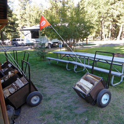 Wood carts Wallowa Lake SP